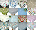 Clarke & Clarke PVC Cotton Oilcloth WIPE CLEAN Tablecloth New Designs for 2017