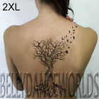 BEAUTIFUL DEAD TREE WITH ROOTS FLYING BIRDS TEMPORARY TATTOO BODY ART STICKER