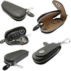 car remote pouch - Genuine Leather Car Remote Key Chain Ring Keychain Case Holder Bag Purse Pouch