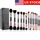 US DELIVERY 15PCs Makeup Brushes Sets Powder Foundation Eye Shadow Make Up Brush
