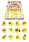 Childrens 36 or 72 Smiley temporary tattoos party bag christmas stocking fillers