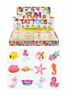 Childrens 36 or 72 Mermaid temporary tattoos party bag stocking fillers
