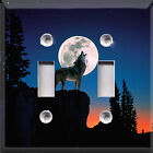 Wolf Howl At The Moon Theme~Light Switch Cover~ Kid Decor~Choose Different Sizes