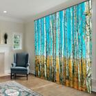 3D Trunk Forest Blockout Photo Curtain Printing Curtains Drapes Fabric Window US