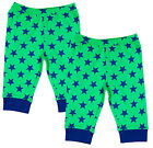 Boys Baby Pack of 2 Star Print Bottoms Green Pants 0-3 Months SALE