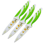"""3PCS 3.5"""" Stainless Steel Paring Knife Set with Sunflower Printed Blade 9CM"""