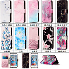 Hot Fashion Cute Marble Pattern Leather Card Stand Flip Wallet  Phone Case Cover