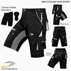 NEW MTB Cycling Short Off Road Bicycle With CoolMax Padded Liner Shorts Black