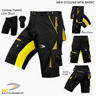 3D MTB Cycling Short Off Road Bicycle With CoolMax Padded Liner Shorts S to XXL