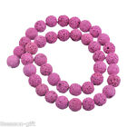 1Strand 8/10/12/14mm Fuchsia Volcanic Bead For Fashion Bracelet&Necklace Diy