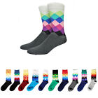 Multi-Color Men's  Casual Breathable Long Rhombus Cotton Warm Socks  Fashion