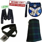 100% wool prince charlie with 8 yard kilt sporan and belt wedding best deal ever