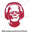 Frankenstein With Headphones Spooky Cool Monsters Decor New Design Vinyl Decal