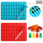 DIY 50-Grids  Silicone Gummy Chocolate Ice Cavity Tray  Candy Mold Hugs Bear Ice