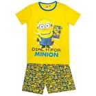 Boys Despicable Me Dial M for Minions T-Shirt Shorty Pyjamas 7 to 14 Years