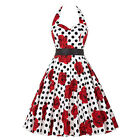 Vintage 1950's Floral Garden Party Picnic Rockabilly Retro Party Cocktail Dress