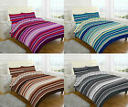 Duvet Cover Grey Stripes Quilt Pillow cases Single Double  Super King All Size