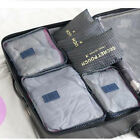 Kit of 6PCS Storage Bag Clothes Bra Socks Packing Travel Luggage Organizer Pouch