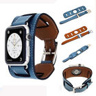 9 color Herme Cuff Leather watch Band Wrist Strap For Apple watch 38 42 Watch