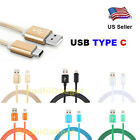 USB Type C 3.1 Nylon Braided Data Sync Charger Cable Cord LOT