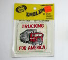 VINTAGE PATCH 70's Trucking For America SEMI Driver Trucker Slogan CB Radio NIP