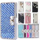 NEW Bling diamond PU leather wallet slot stand cover case For LG G Stylo 3 Plus