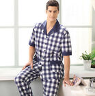 Cozy Blue/ Red 100% Cotton 2PCs Man's Home Sleepwear/ Pajama Sets L/XL/2XL/3XL