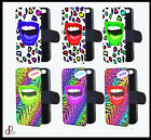 Personalised crazy lips leopard print phone case cover flip gift iphone samsung