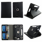 Universal Case for Visual Land Prestige 10D Leather Folio Stand ID Slots Cover