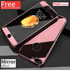 Hybrid 360° Hard Ultra Thin Mirror Case Tempered Glass Cover For iPhone 7 Plus