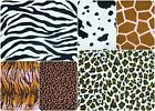 "Anti-Pil Polar Fleece Fabric - Animal Print Patterns Zebra etc - 150cm(59"") wide"
