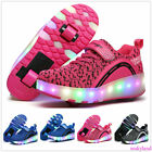 Child LED Switchable Light Roller Skating Sneakers Wheel Roller Shoes