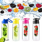 800ML Sports Fruit Infusing Infuser Water  Juice Health Bottle Flip GIFT