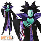 Disney Maleficent Ladies Fancy Dress Sleeping Beauty Villain Halloween Costume