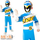 Deluxe Blue Dino Charge Power Ranger Boys Fancy Dress Superhero Childs Costume