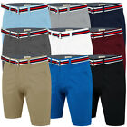 Mens Chino Shorts Summer Cotton Belted Half Pant Casual Stallion Cargo Combat.