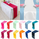 Внешний вид - 1/5/10 30*275CM Satin Table Runner Wedding Reception Banquet Party Decor 12x108""