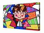 "Romero Britto Nice Guy Modern Art ~ 30x20"" Canvas Wall Art Picture Print Framed"