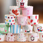 25 x Cupcake Wrapper Paper Cake Case Baking Muffin Liners Dessert Cups Party New