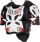 Alpinestars A-10 Offroad Motorcycle Riding Full Chest Protector White Black Red