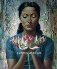 Vladimir Tretchikoff 'Water lily' 1954   - FINE ART PRINT/ REPRODUCTION