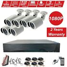 8 Channel Full HD 1080P 2.4MP Camera HDMI CCTV DVR Outdoor Home Security System