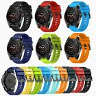 26mm Quickfit Silicone Wristband Strap +Buckle for Garmin Fenix 5X/5X Plus Watch