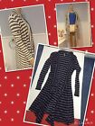 SZ XS ,S, L FREE PEOPLE 'Forget Me Not'White Co, Navy/Teak Striped Cardigan $108
