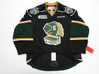 LONDON KNIGHTS AUTHENTIC BLACK OHL CCM EDGE 2.0 7287 HOCKEY JERSEY