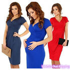 Sexy Maternity Women Short Sleeve Slim Bodycon Party Cocktail Evening Dress  R1