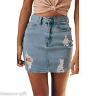 Women's Fashion  High Waist Jeans Short Skirt Denim Pencil Mini Skirt GIFT