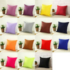 Plain Dyed Cushion Cover Fiber Fabric Pillow Case Sofa ,Size 16x16,18x18,20x20