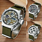 OHSEN AD1601 Waterproof Mens Sports LED Wrist Watches with Canvas Watch Band
