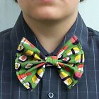 Yummy Sushi Bow Tie bowtie Boys Men Dads Prom Groom Tux Seafood Foodie